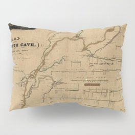 Map Of Mammoth Cave 1835 Pillow Sham