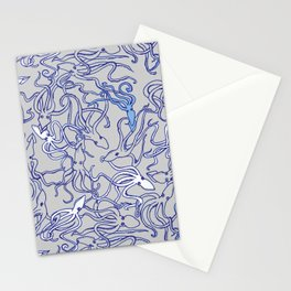 Squids of the inky ocean Stationery Cards