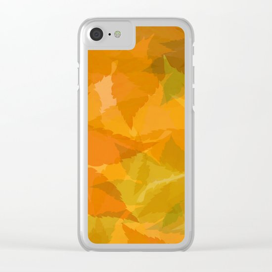 Autumn leaves pastel Clear iPhone Case