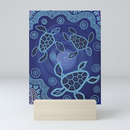 Aboriginal Art Authentic - Sea Turtles Mini Art Print