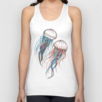 jellyfish Tank Tops featuring JellyFish by Ana Grigolia