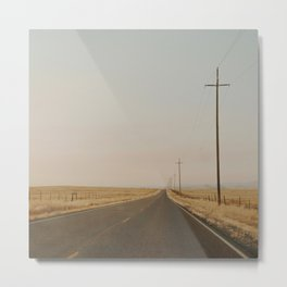 California Country Road Metal Print