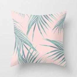 Blush Palm Leaves Dream #2 #tropical #decor #art #society6 Throw Pillow