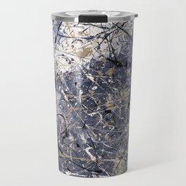 Orion - Jackson Pollock style abstract drip painting by Rasko Travel Mug