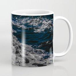 Snow Day - Sea foam on water in San Francisco Coffee Mug