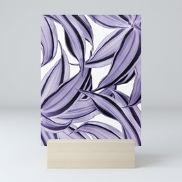 Dracaena Tropical Leaves Pattern Ultra Violet #1 #tropical #decor #art #society6 Mini Art Print