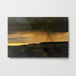 Looks Like Rain Metal Print