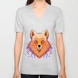 Smudge Grunge Fox Unisex V-Neck