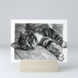 Resting Kitty G064 Mini Art Print