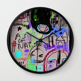 """Angry Boy Blackboard"" Wall Clock"