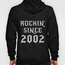 18 Year Old Classic Rock 2002 18th Birthday Gifts Men Women Hoody