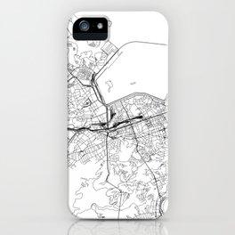 Rio De Janeiro White Map iPhone Case