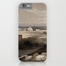 Vintage Print - The Holy Land, Vol 2 (1843) - The ancient city of Tyre, taken from the isthmus iPhone Case