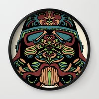 trooper Wall Clocks featuring Candie Trooper by Quakerninja