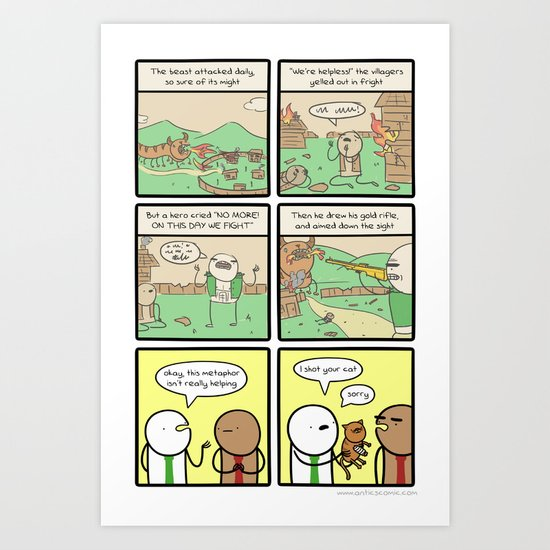 Antics #264 - that just happened Art Print