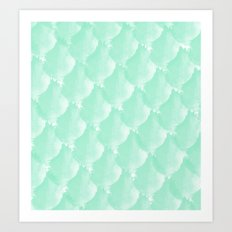 Mint Scallop Art Print