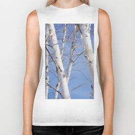 Birch Trees Biker Tank