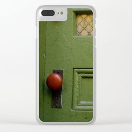 The Red Doorknob Clear iPhone Case