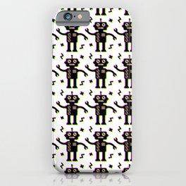 Glitchy Robots iPhone Case