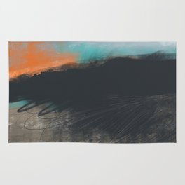 Peak District Moorland Sunset Rug