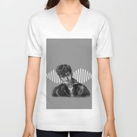 alex turner V-neck T-shirts featuring Alex Turner by Luna Perri