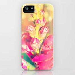 Lupinus-Pink Yellow Blue-Bokeh Hearts iPhone Case