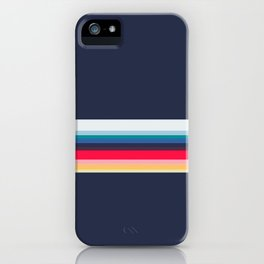 Simply Striped (navy) iPhone Case