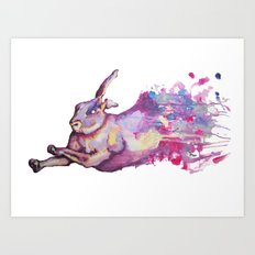 In which there is a rabbit-splosion  Art Print