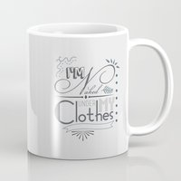 naked Mugs featuring Naked by Fickle Designs