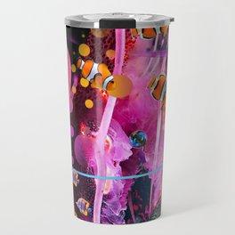 Pink Electric Jellyfish Travel Mug