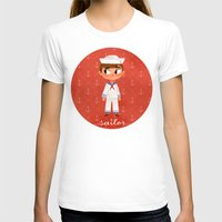 sailor T-shirts featuring Sailor by Anoosha Syed