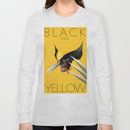 BLACK AND YELLOW Long Sleeve T-shirt