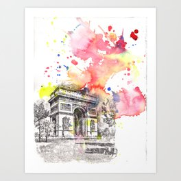 Arch De Triumph Paris France Art Print