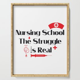 Nursing School Struggle Is Real Nurse Gifts Serving Tray