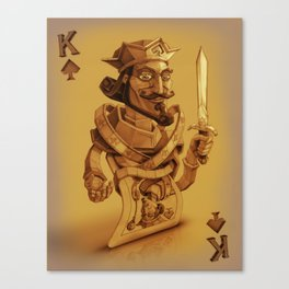 King of Spades Canvas Print