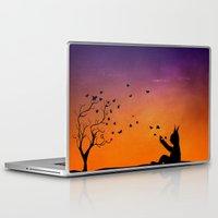 dream catcher Laptop & iPad Skins featuring Dream Catcher. by Nancy Woland
