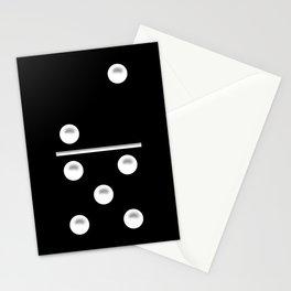 Black Domino / Domino Negro Stationery Cards