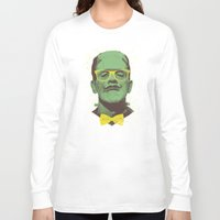 frank Long Sleeve T-shirts featuring Mr Frank by Victor Vercesi