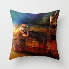 Ex Libris Throw Pillow