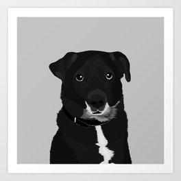 The Dashing Mixed-Breed Dog Art Print