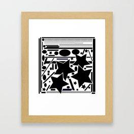 Black and white  composition Framed Art Print