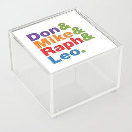 Don & Mike & Raph & Leo. Acrylic Box