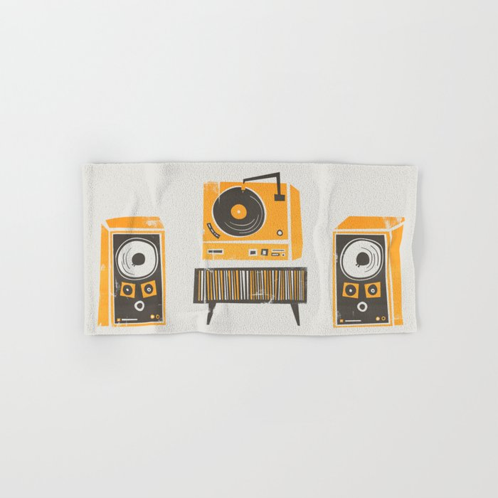 Vinyl Deck And Speakers Hand & Bath Towel
