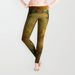 """Art Deco II The Chimera (Moth)"" Leggings"