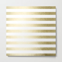 Simply Striped Gilded Palace Gold Metal Print