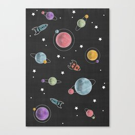retro space pattern Canvas Print