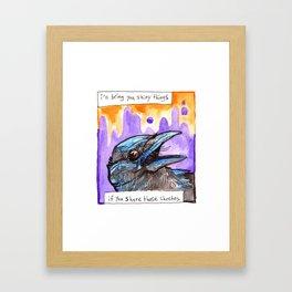Interspecies Trading System Framed Art Print