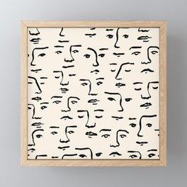 Stolen Faces Framed Mini Art Print