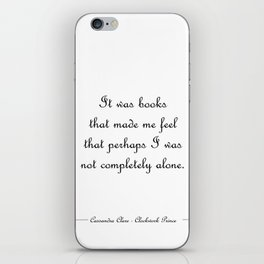 Not completely alone - Will Herondale WHITE iPhone Skin