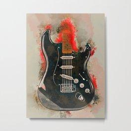 David Gilmour's electric guitar Metal Print